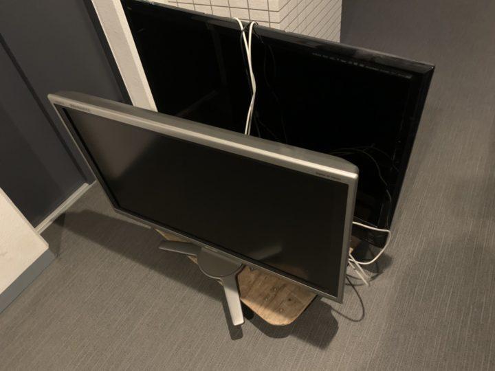 不用品回収:テレビ2台
